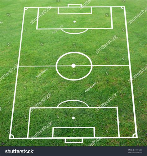 pitch pattern en español soccer pitch with perspective smooth surface stock photo