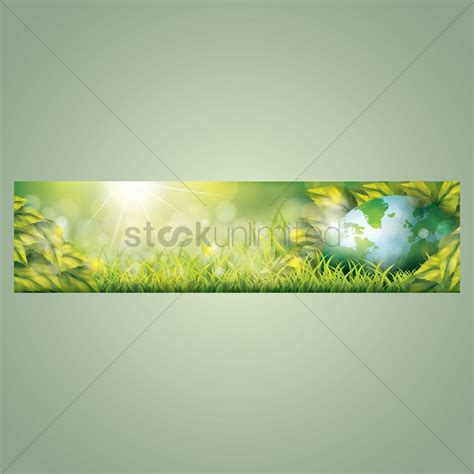 banner design for nature nature banner design vector image 1612316 stockunlimited