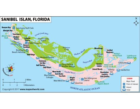 sanibel island map buy sanibel island map