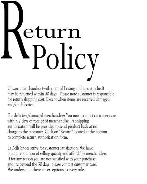 100 exles of no return no refund policies termsfeed