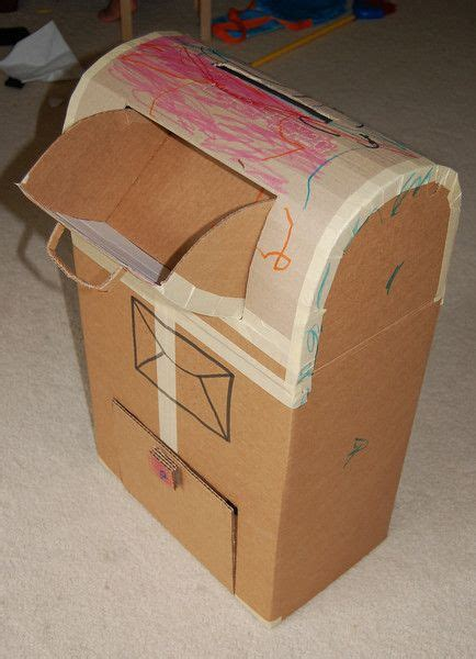 How To Make Post Box With Chart Paper - for mail your parents can just put it in and you check