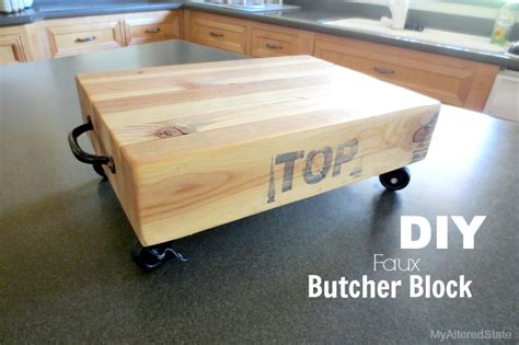 make your own butcher block faux diy butcher block my altered state