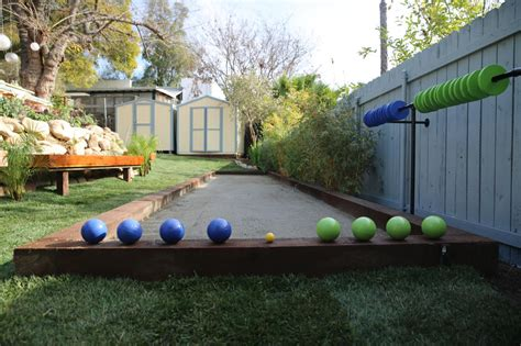 backyard bocce ball court popular backyard and tailgating games diy outdoor spaces