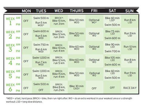 couch to olympic triathlon training program 9 week fitness plan 10 aya audibert