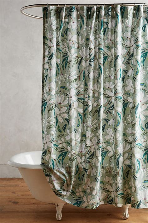 anthro shower curtain blanchetta shower curtain anthropologie