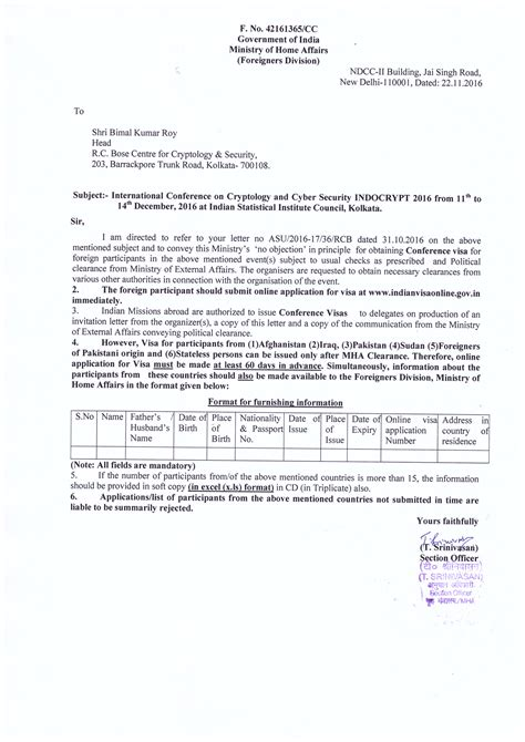 India Visa Letter Of Introduction bunch ideas of sle application letter format india