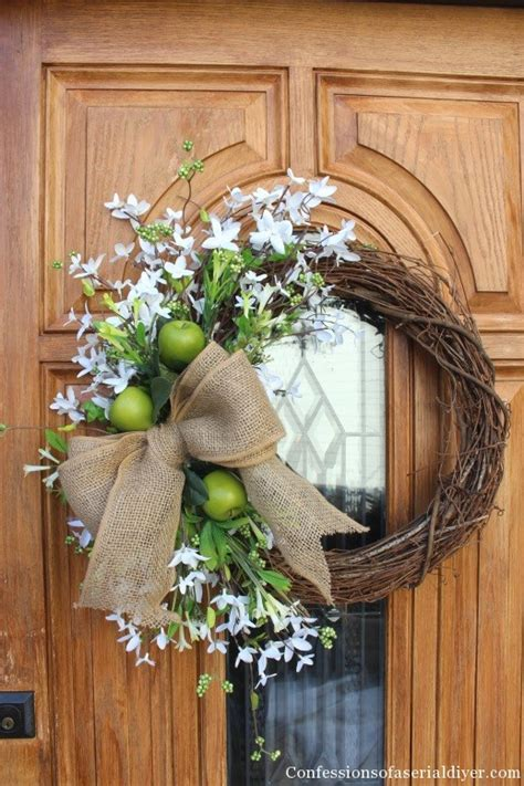 simple spring wreath confessions   serial