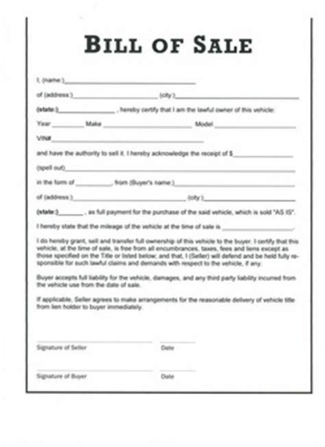 bill of sale agreement template free bill of sale form bill of sale form