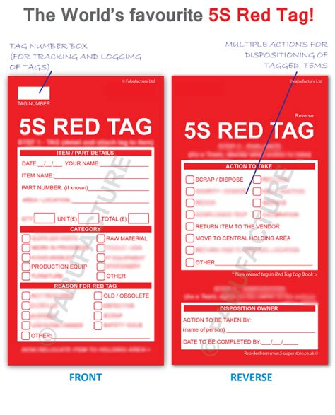 5 S Red Tags From Fabufacture Uk Fast Shipping Fabufacture Uk 5s Tag Template