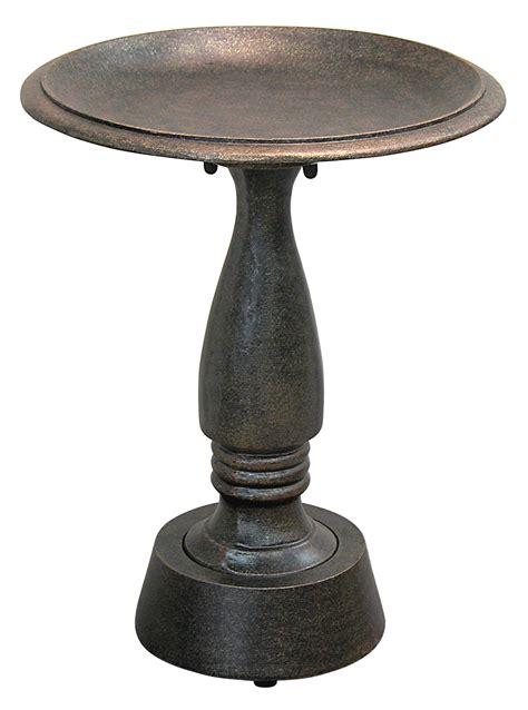 birdbath cast aluminum iron madison