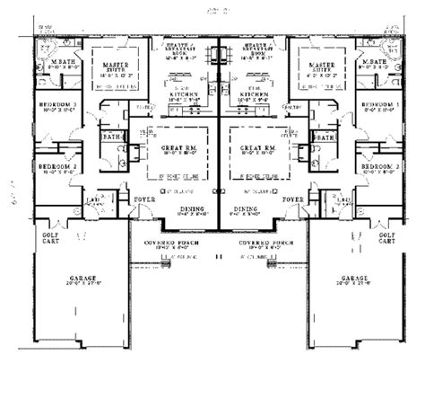 ranch duplex floor plans salerno ranch duplex plan 055d 0076 house plans and more