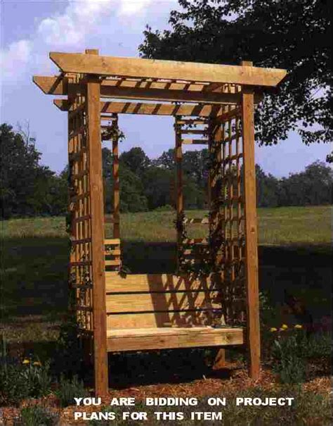 arbor with bench plans outdoor furniture project plans 2000 great woodworking