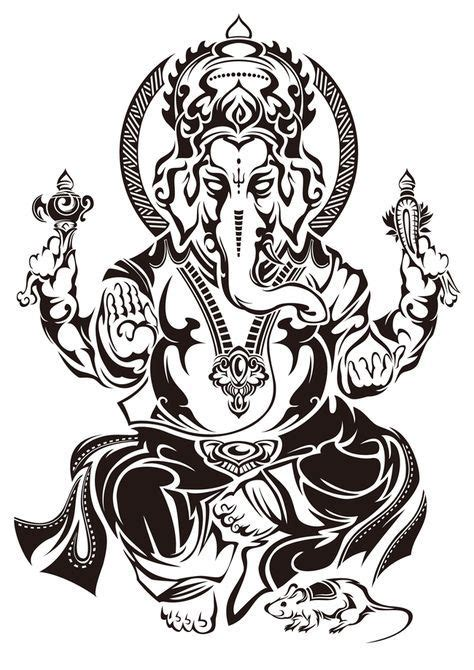 ganesha tattoo klein tribal ganesh by takihisa on deviantart ローブローアート