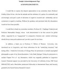 Image result for writing dissertation acknowledgement examples