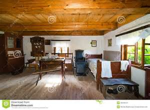 Country Homes Interior Design Inside Of Old Rural Home In Poland Xixth Century Stock