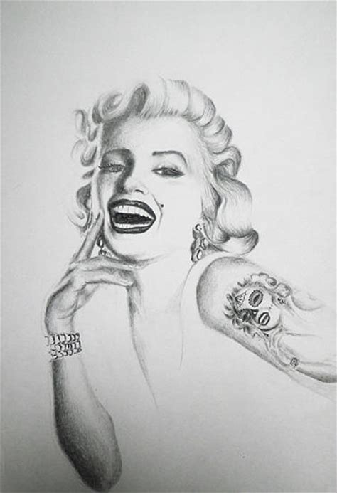 marilyn monroe day of the dead mask tattoo series