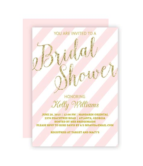 Glitter And Blush Bridal Shower Invitation Chicfetti Wedding Shower Invitation Template