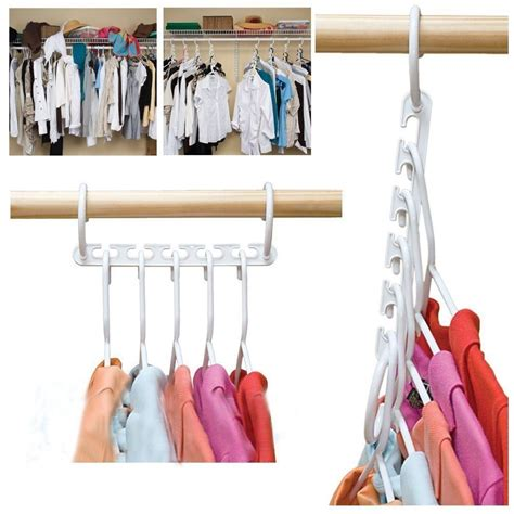 8pcs clothes hanger rack portable plastic clothing hook