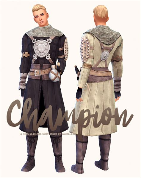 Champion The Sims Medieval outfit conversion at Valhallan