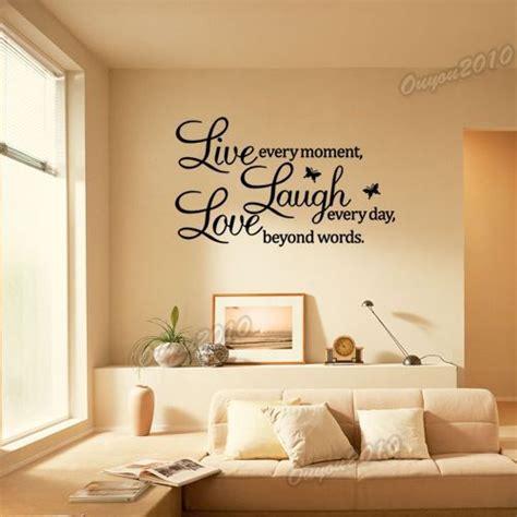 diy live laugh sticker lettre mural d 233 co murale