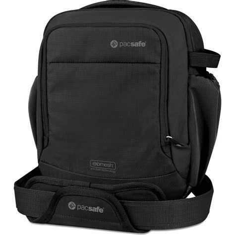 and shoulders color safe pacsafe camsafe v8 anti theft shoulder bag 15160100 b h
