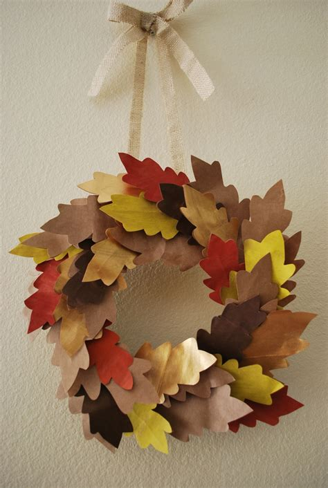 Paper Fall Crafts - paper grocery sack crafts