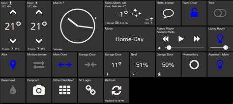 smarttiles dashboard for smartthings slate style home