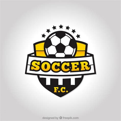 Football Team Logo Template by Soccer Team Logo Vector Free