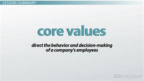 company speech what are values of a company definition exles
