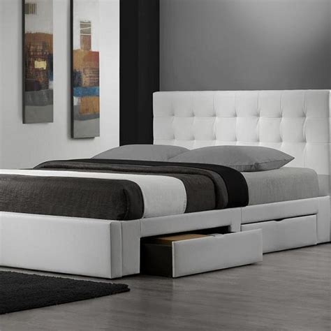 modern storage bed frame king platform bed with storage drawers size modern beds