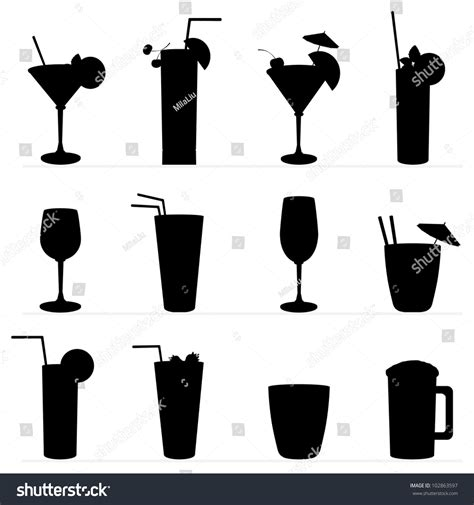 cocktail silhouette image gallery silhouette