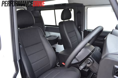 land rover defender interior back seat land rover defender 90 review performancedrive