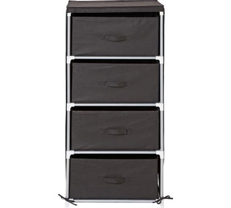 Black Chest Of Drawers Argos by Buy Home Metal And Polycotton 4 Drawer Storage Unit