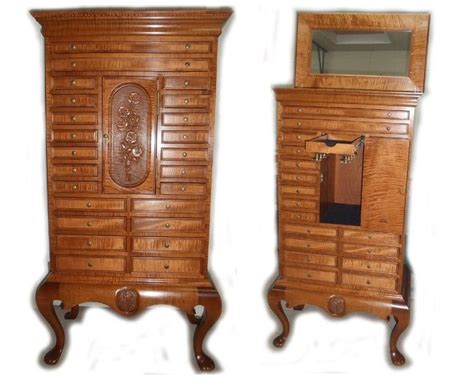 jewelry armoire under 50 hand made jewelry armoire by wood n reflections custommade com
