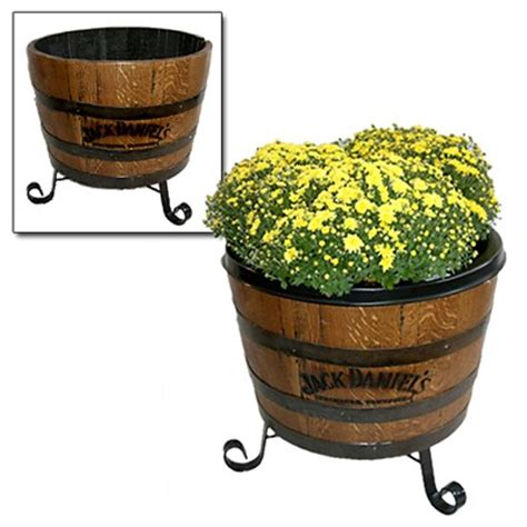Barrel With Planter by The Daniel S Store Barrel Planter With Liner The