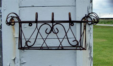 Wrought Iron Window Boxes Planters by Wrought Iron Mini Window Box Wall Planter