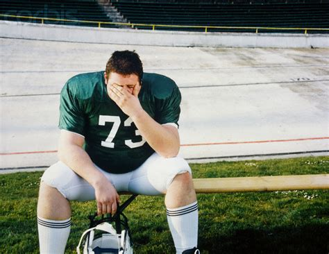 football player on bench bangen athletic development getting better one day at a time