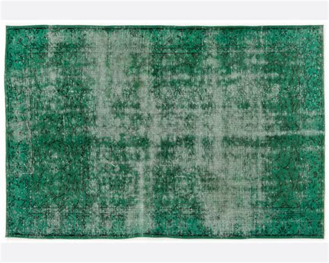 vintage dyed rug emerald green all the hues rugs