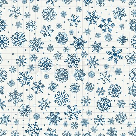bed sheet texture pattern winter snow flakes doodles seamless background pattern
