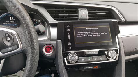 problem  touch screen display  radio settings honda civic    honda civic