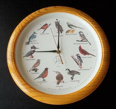 national audubon society singing american bird clock