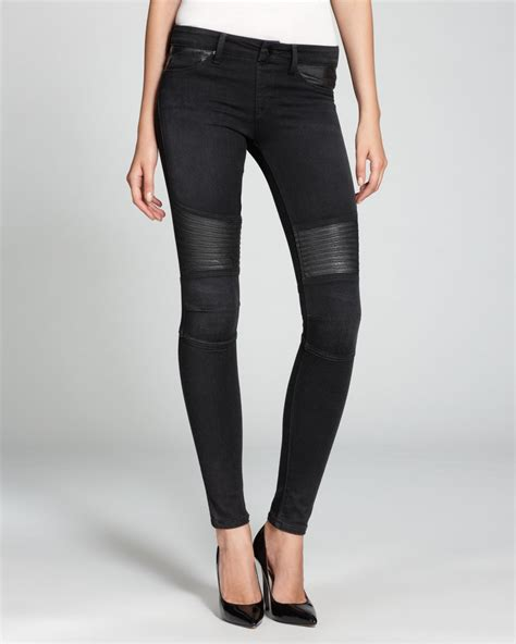 design lab jeans lyst sold design lab quotation jeans leather knee patch
