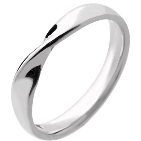 Wedding Ring Width by 18ct White Gold Wedding Ring Width 3mm With A Twist