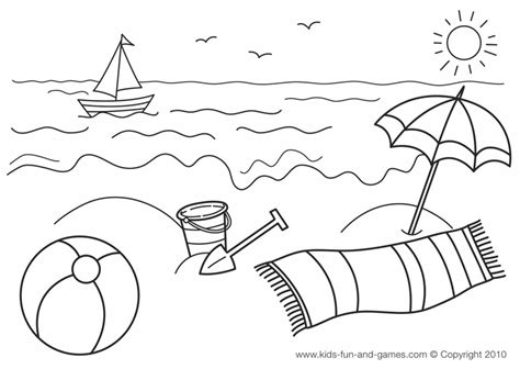 preschool vacation coloring pages summer coloring pages