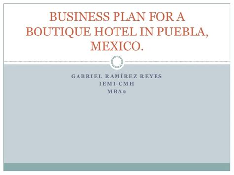 boutique hotel business plan template business plan for a boutique hotel in puebla