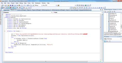 membuat database vb dengan access membuat koneksi vb net dengan database sql server rozidotnet