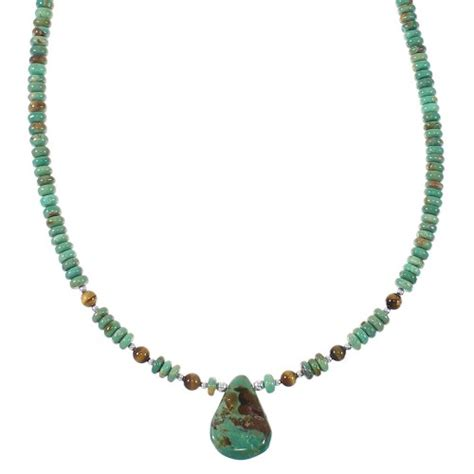 turquoise and tiger eye sterling silver southwestern tear
