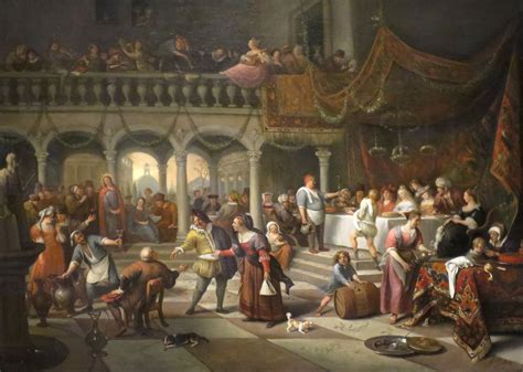 Wedding In Cana Painting by File Marriage At Cana By Jan Steen 1676 On Canvas