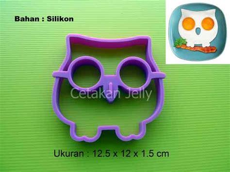 Cetakan Silikon Kue Puding Dino Family cetakan silikon telur mata sapi burung hantu owl cetakan jelly cetakan jelly