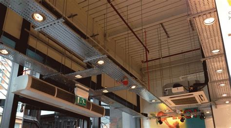 cable tray ceiling exposed services cable ducting search interior
